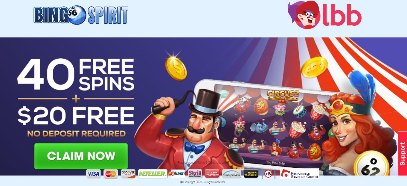 Bingo Spirit Homepage