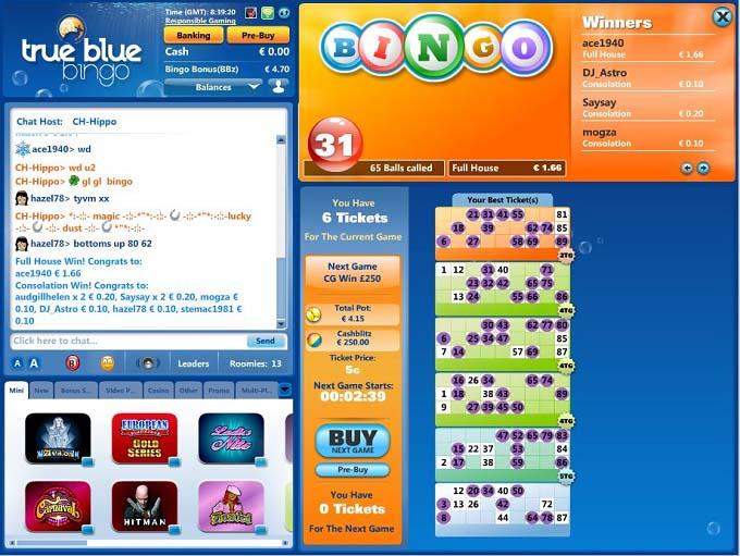 True Blue Bingo Review