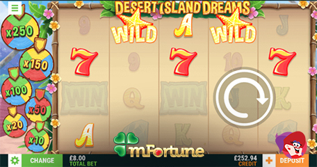 Dreamy New No Deposit Slot from mFortune with Free Play